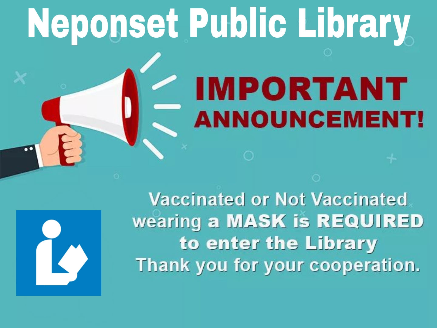 Vaccinated or not wear a mask with lib