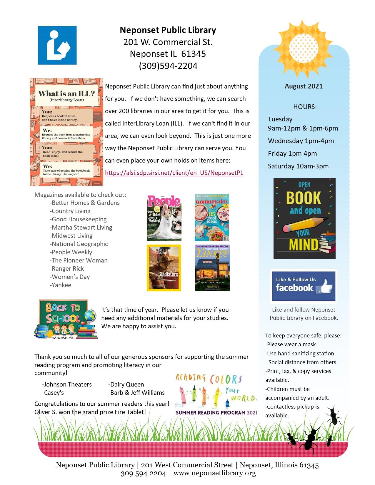 August 2021 Newsletter p1